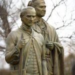 Spratt Hagler statue dedication