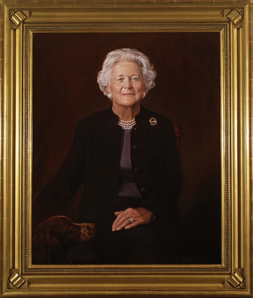 Official portrait of First Lady Barbara Bush, The White House